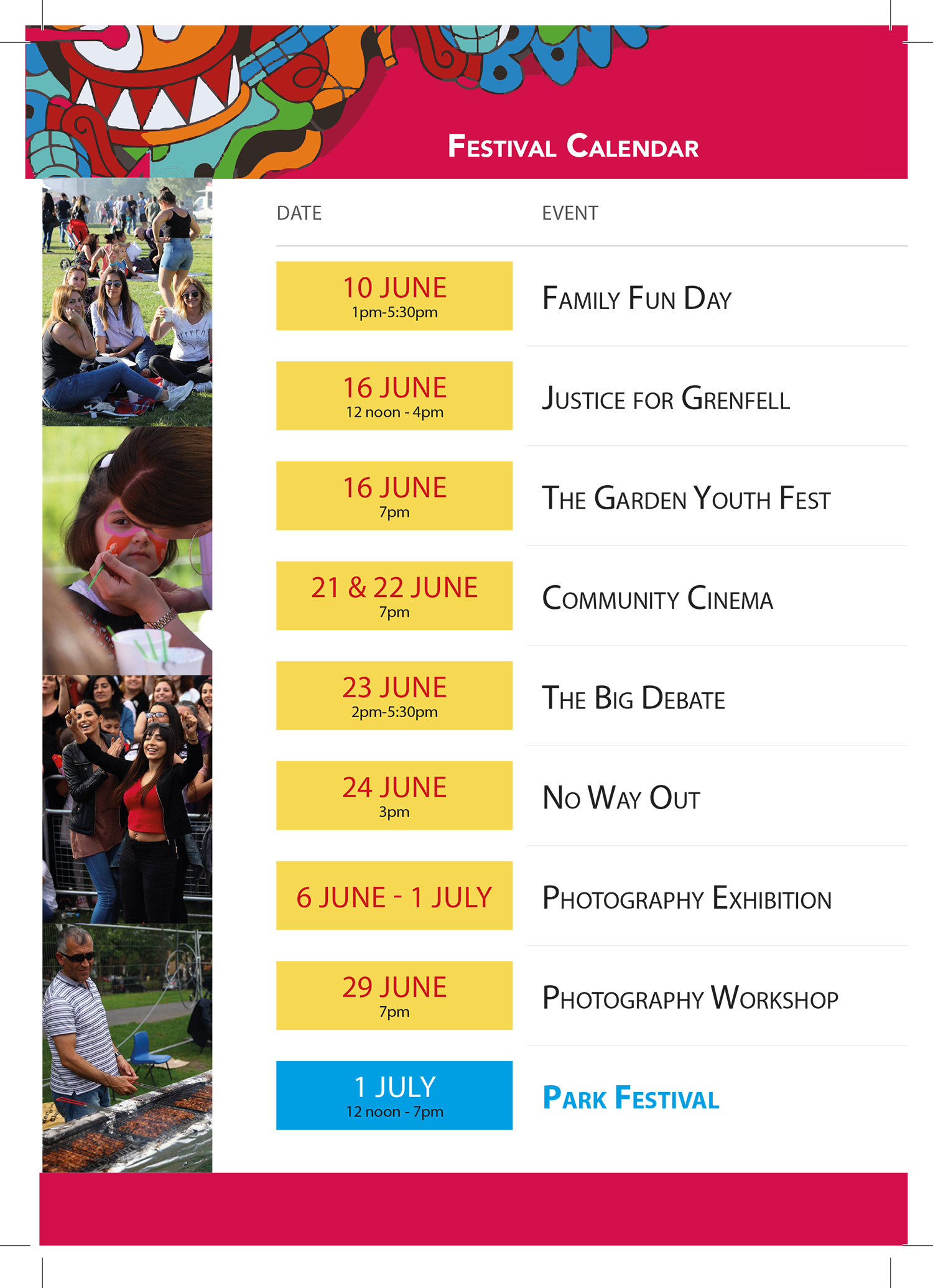 daymer turkish and kurdish community centre festival calendar